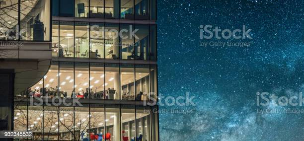 Photo of Office building at night