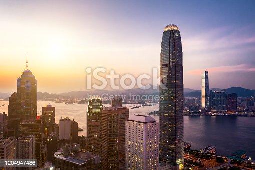 Hong Kong, Central District - Hong Kong, China - East Asia, Hong Kong Island, Night