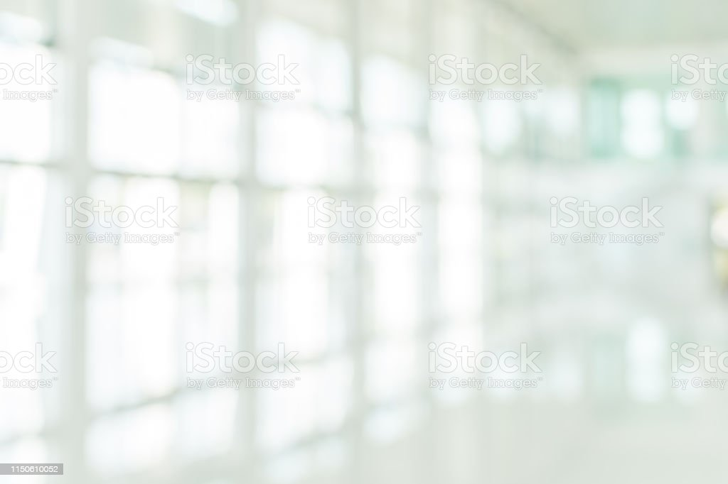 Office building blur background business lobby reception hall...