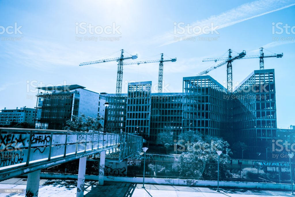 Office building construction site royalty-free stock photo