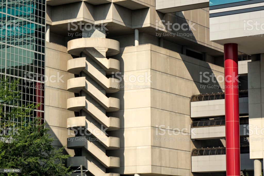 office building detail in downtown of Atlanta stock photo