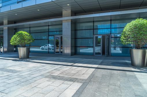 Building Exterior, Construction Industry, Glass - Material, Entrance, Door
