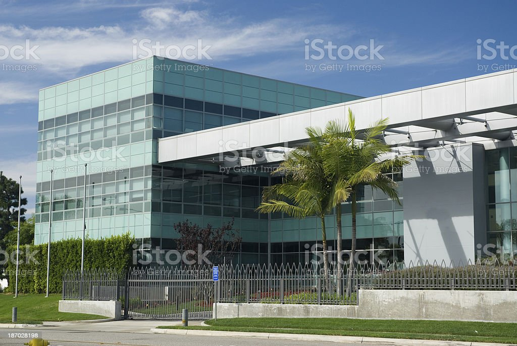 Office building exterior on a sunny day royalty-free stock photo