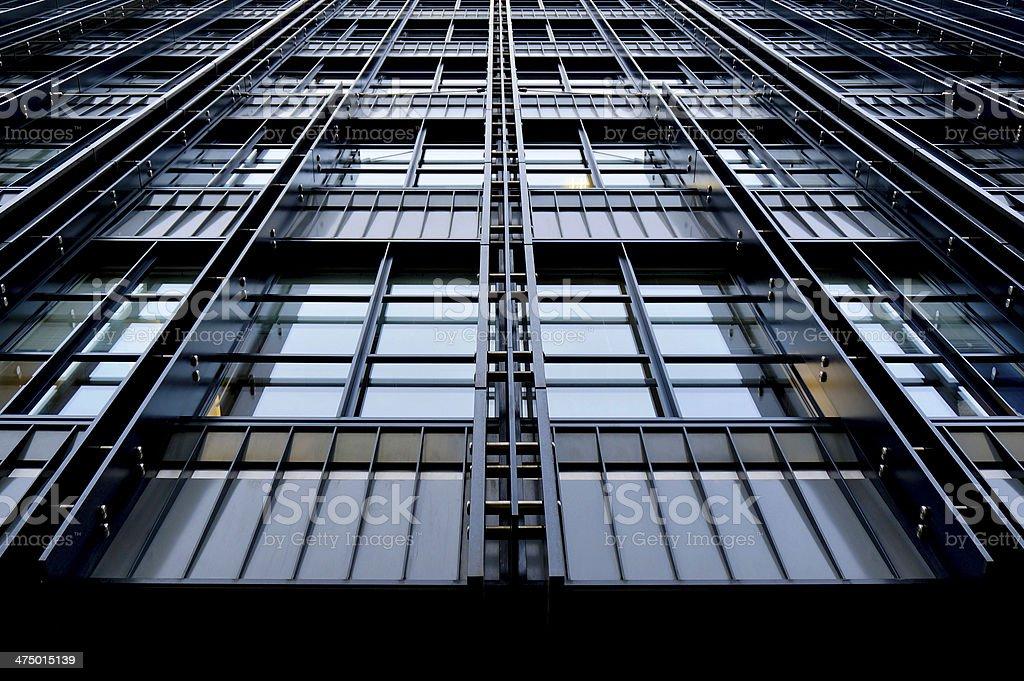 Office building façade detail stock photo