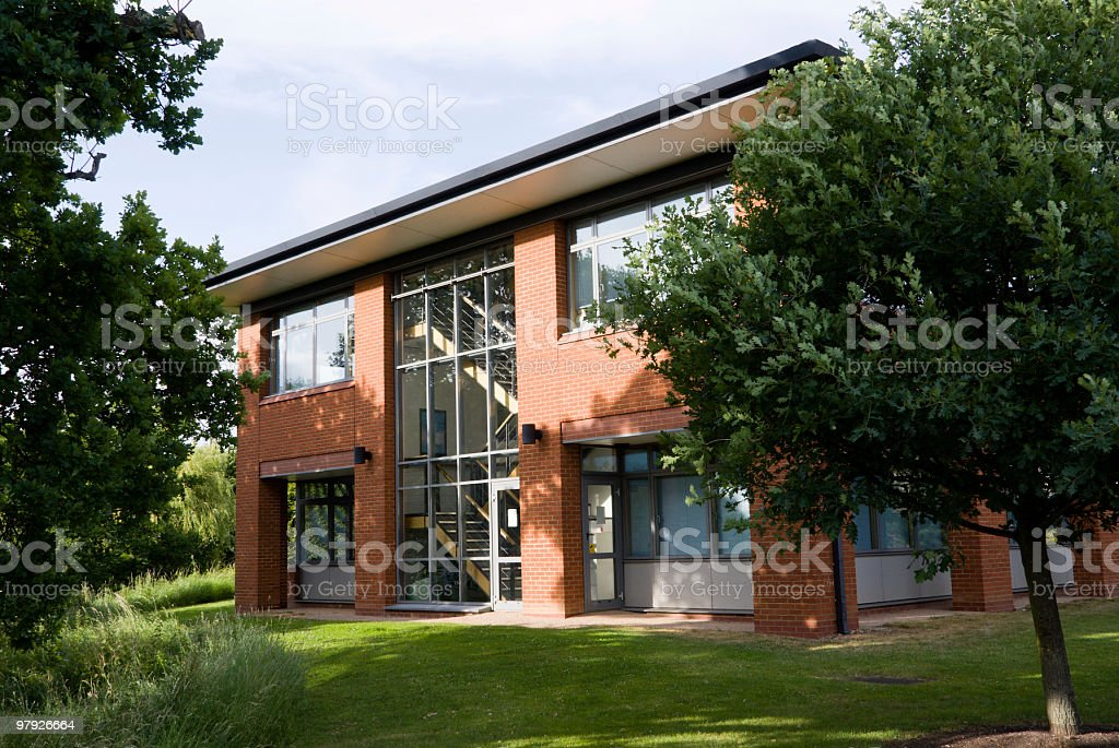 Office building facade. Horizontal. royalty-free stock photo