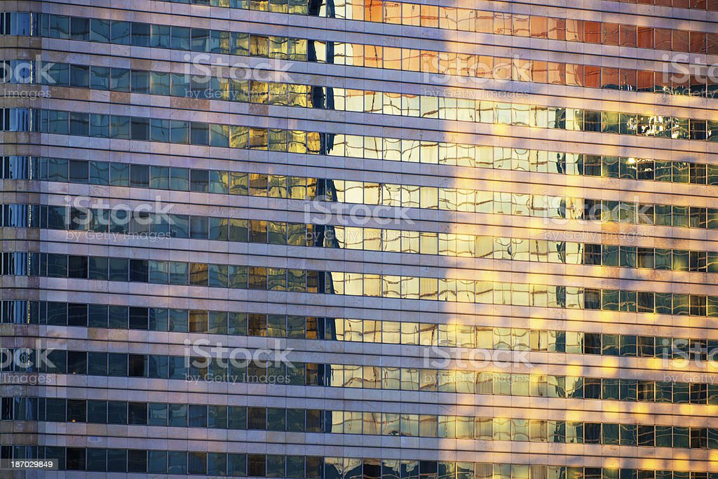 Office Building Facade in the Sunset royalty-free stock photo