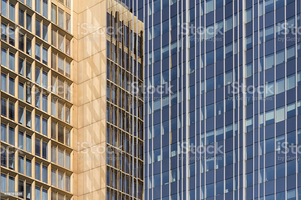 office building facade - real estate business background stock photo