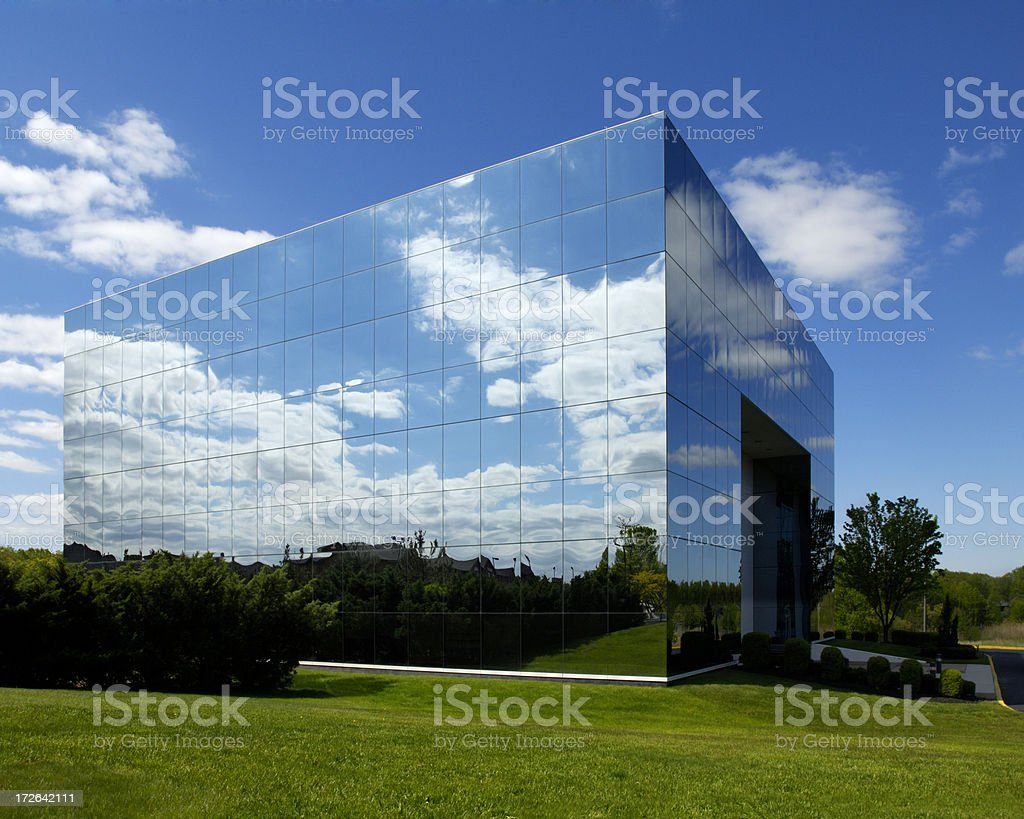 office building illusions royalty-free stock photo