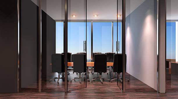 Office building in a new residential area. 3d rendering. - foto de acervo
