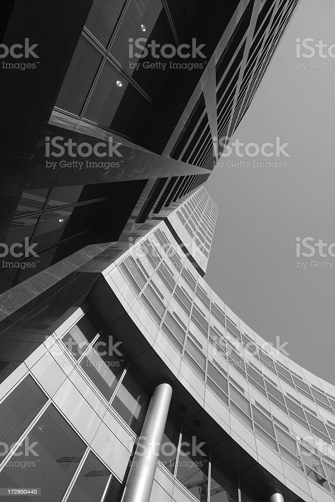 Office Building in Black & White 3 royalty-free stock photo