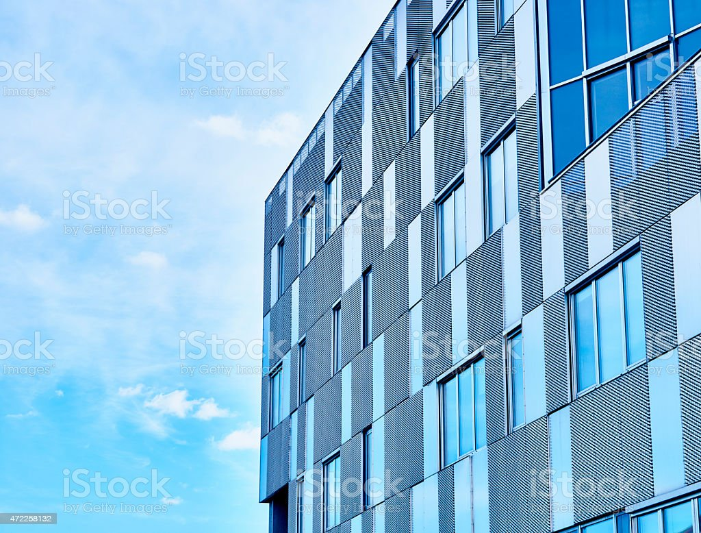 Office building in blue stock photo