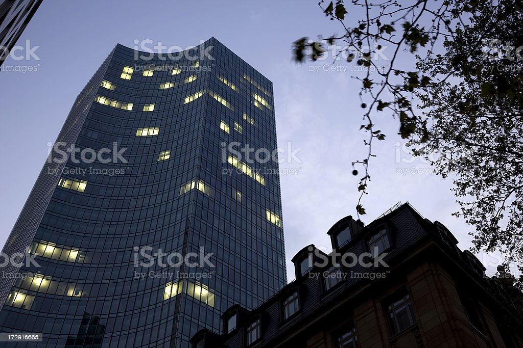 office building in night royalty-free stock photo