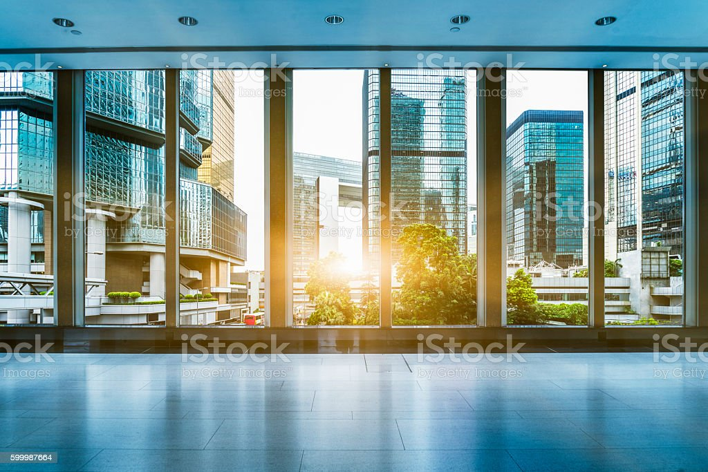 office building interior stock photo