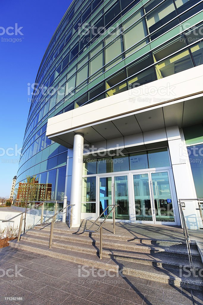Office Building Main Entrance stock photo