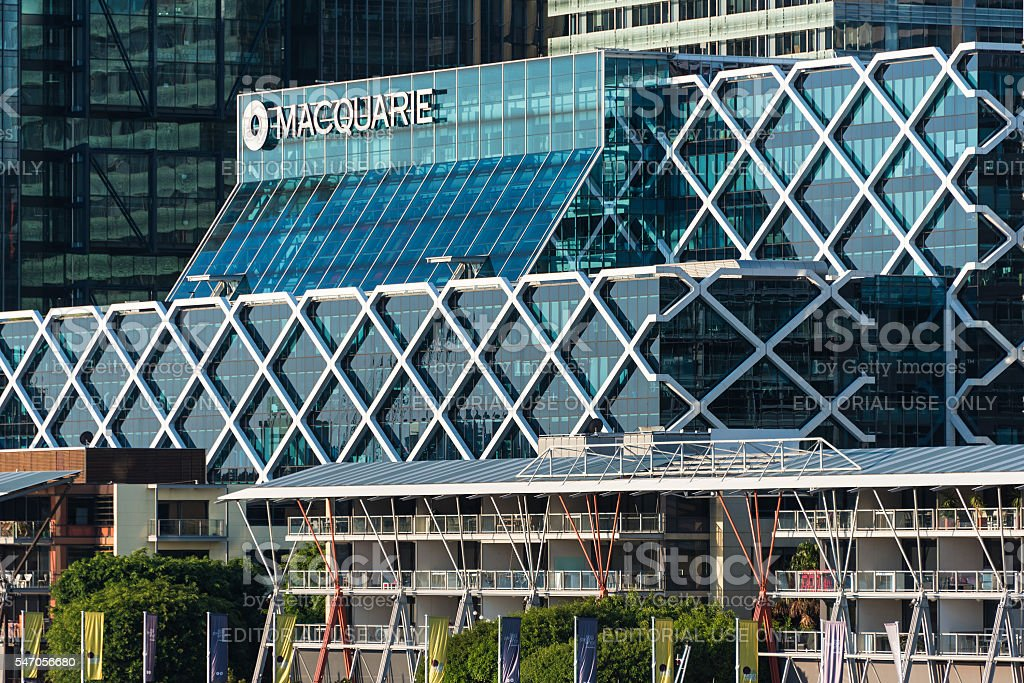 Office building of Macquarie Group stock photo