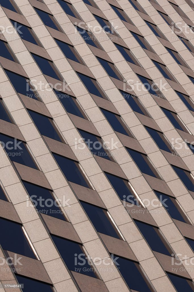 Office building pattern in Boston royalty-free stock photo
