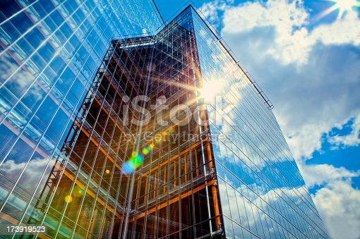 Office building in the sunlight