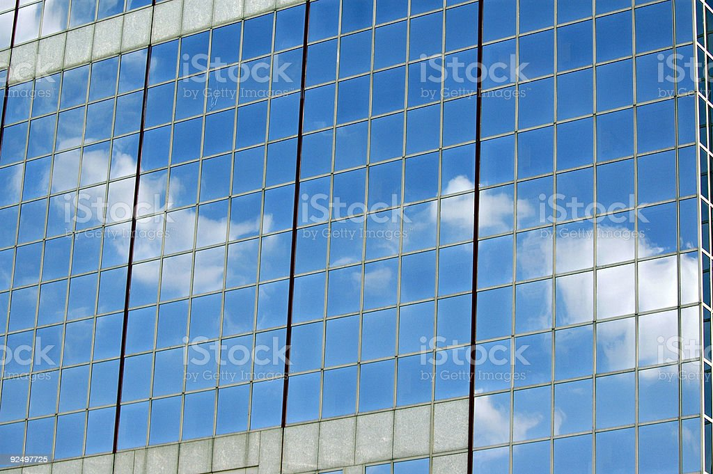 office building reflection royalty-free stock photo