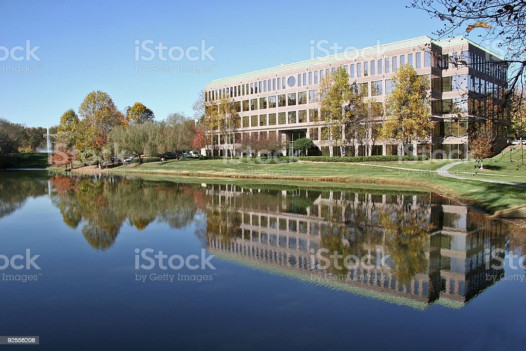 Office Building Reflection stock photo