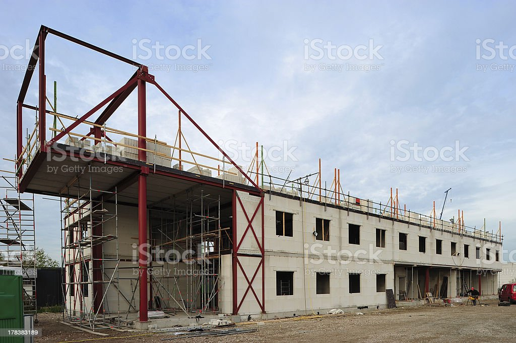 Office building under construction royalty-free stock photo