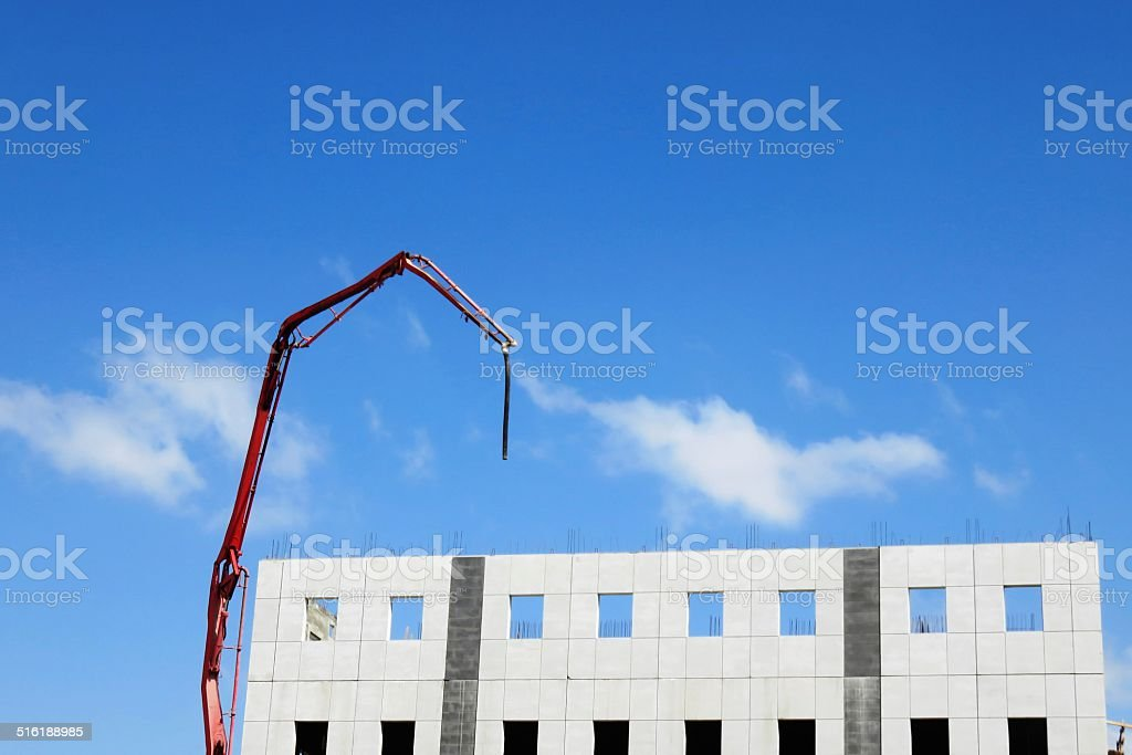 Office building under construction stock photo