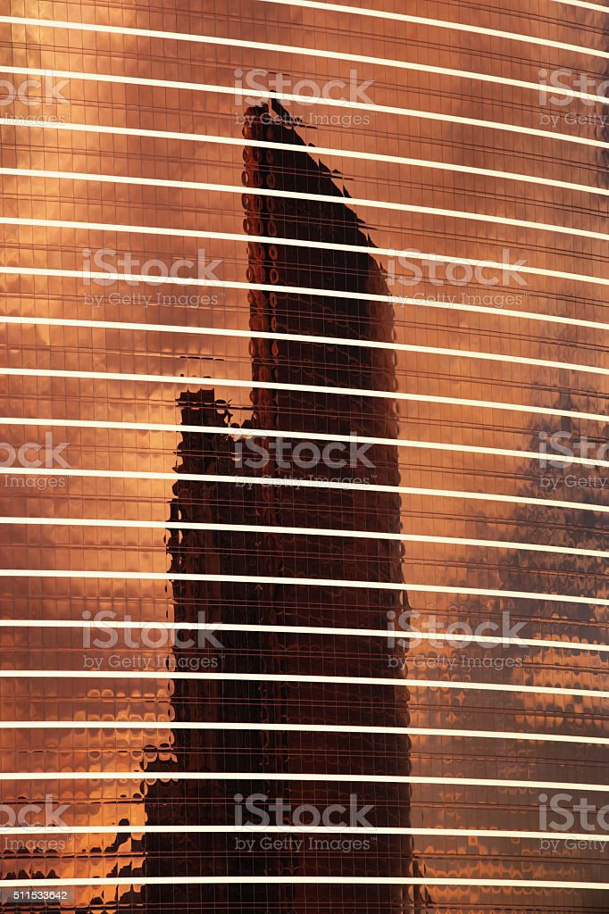 Office Building Window Glass Facade Reflection stock photo