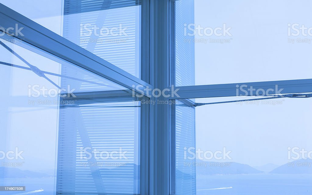 Office building with beautiful sea view royalty-free stock photo