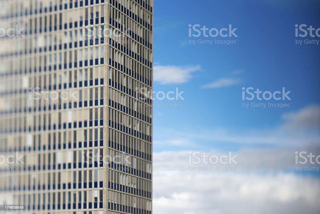 Office building with Clouds royalty-free stock photo