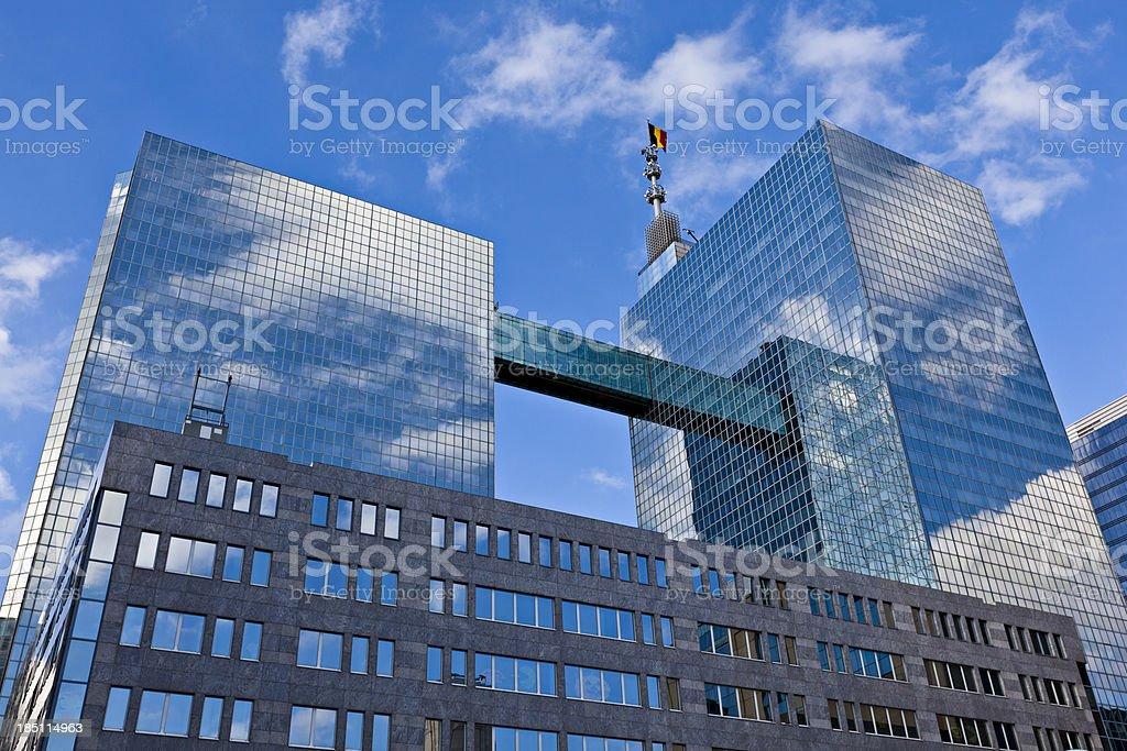 office building with glass facade royalty-free stock photo