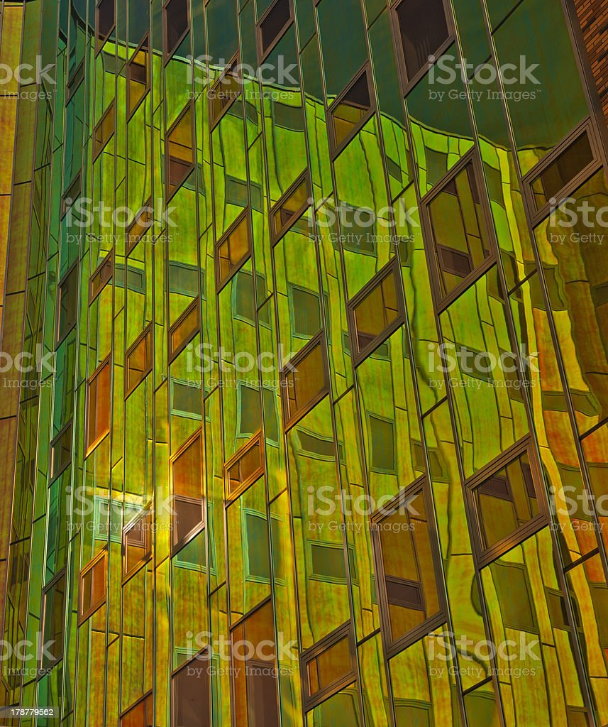 Office building with reflecting windows royalty-free stock photo