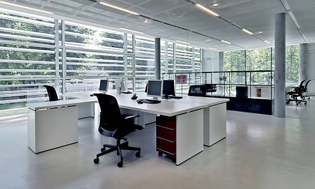 office building with several workstations - office cubicle stock pictures, royalty-free photos & images