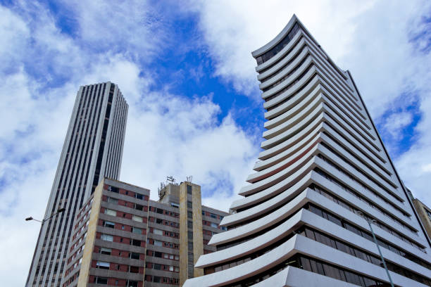 Office Buildings at Bogota stock photo
