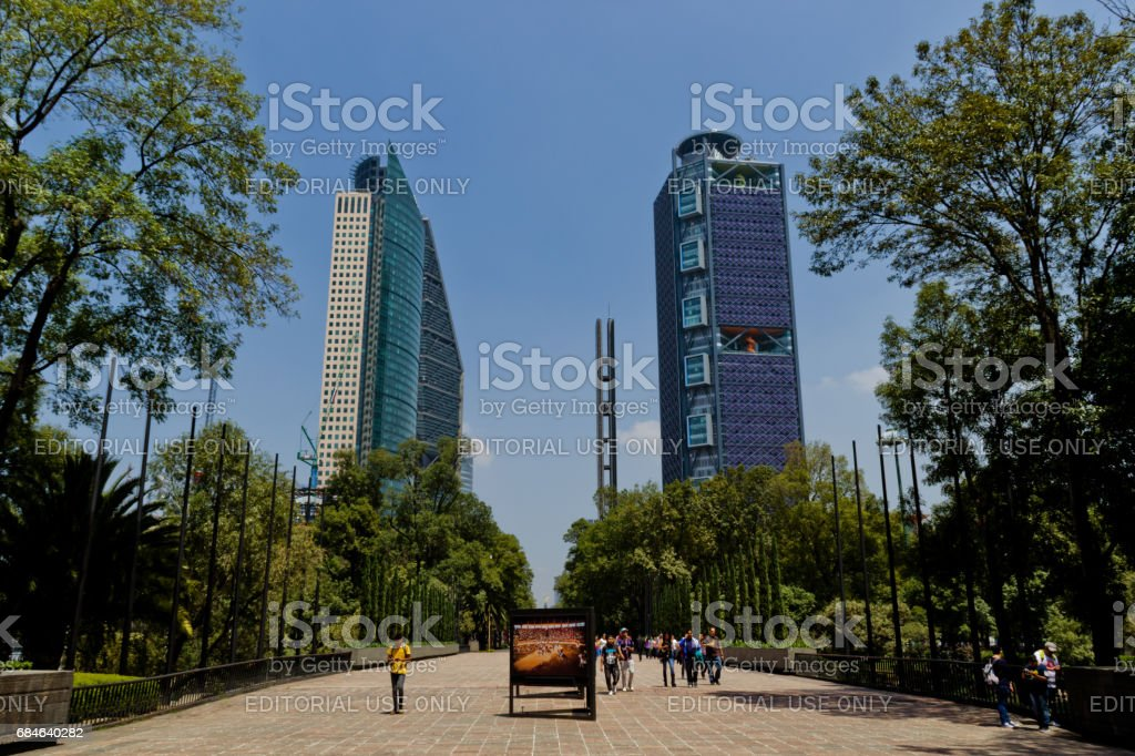 Office buildings at Mexico City stock photo