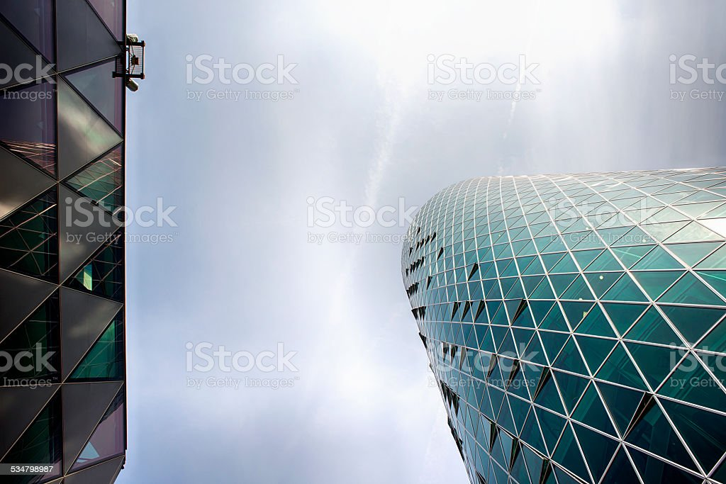 Office buildings detail stock photo