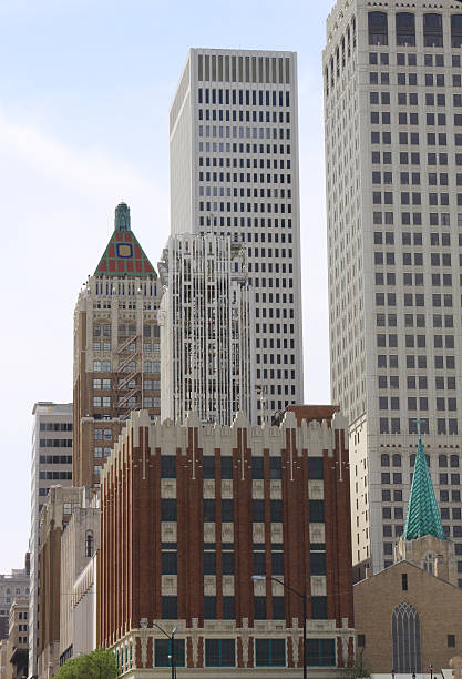 Office Buildings, Downtown Tulsa Ok stock photo