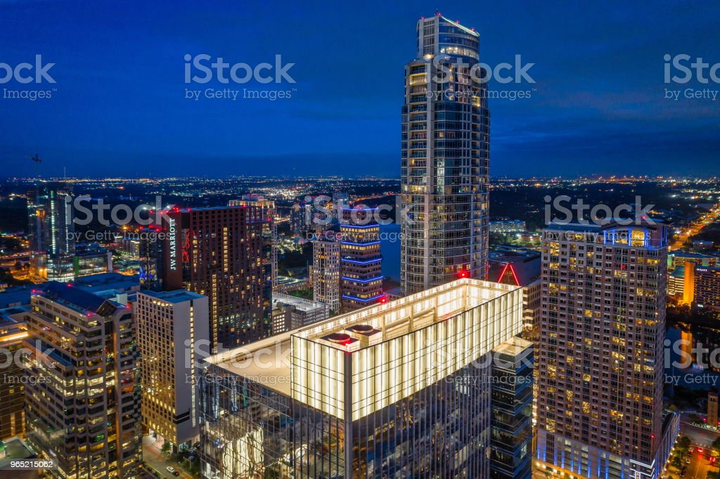 Office Buildings in Austin, Texas royalty-free stock photo