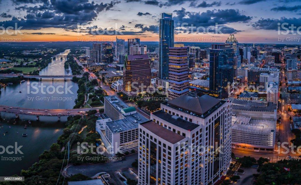 Office Buildings in Austin, Texas zbiór zdjęć royalty-free