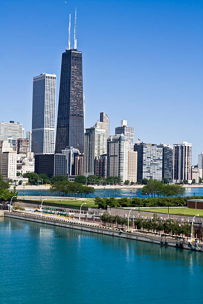 edificios de oficinas en chicago - edificio hancock chicago fotografías e imágenes de stock