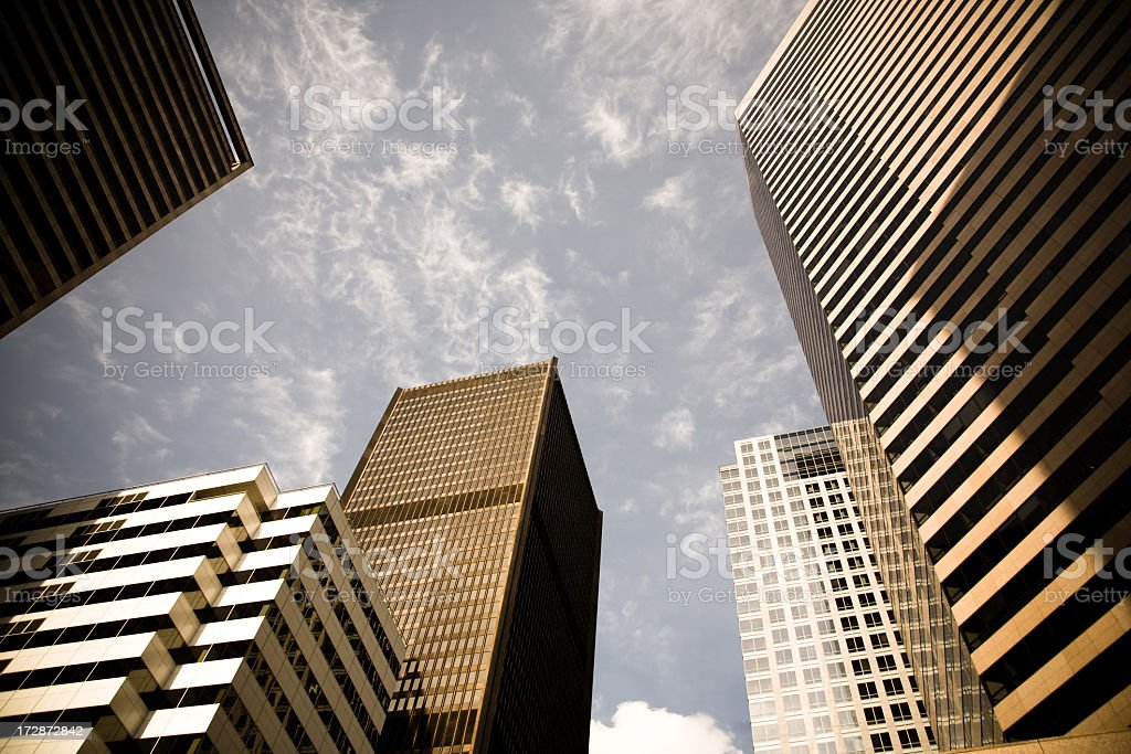 Office buildings in downtown Seattle stock photo