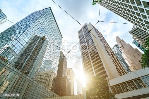 istock Office Buildings in Hong Kong 619408318