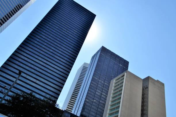 Office Buildings in Houston Texas stock photo