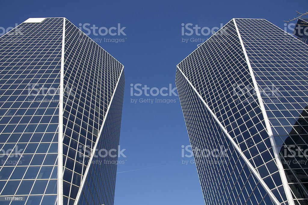 Office Buildings in Regina royalty-free stock photo