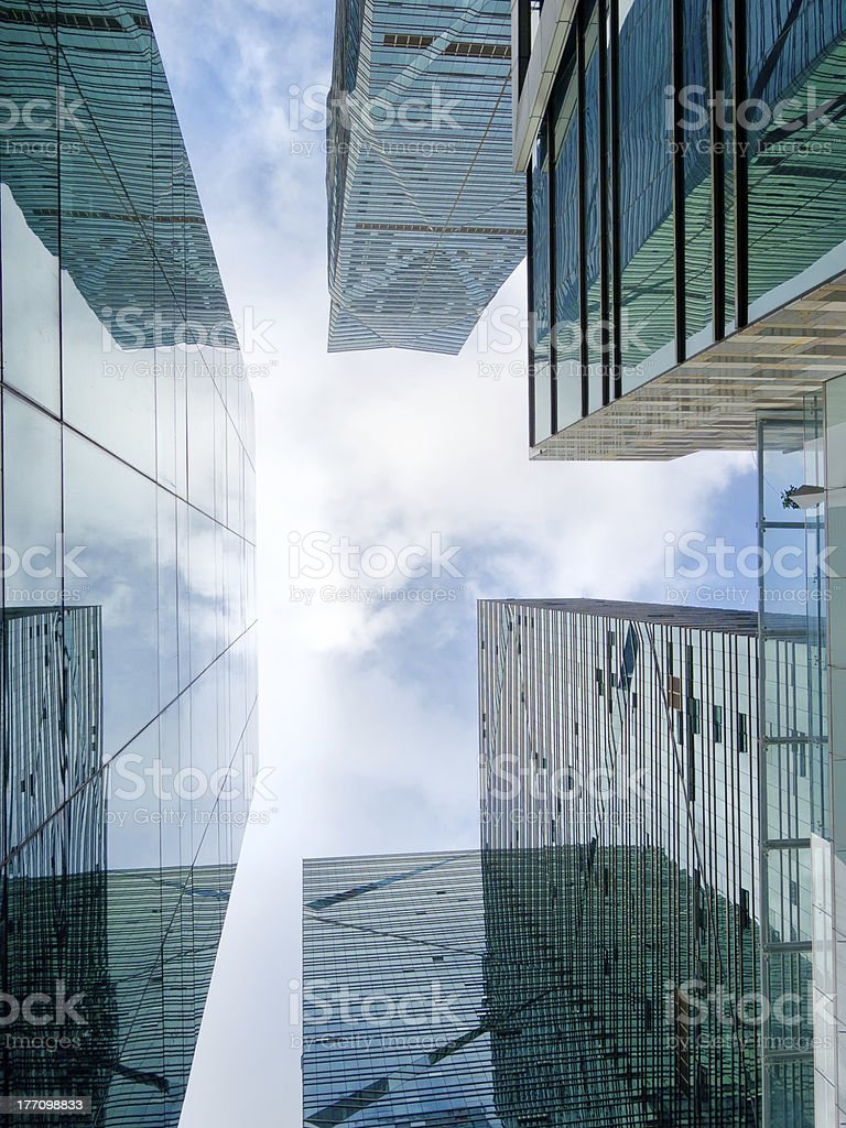 Office buildings, looking-up stock photo
