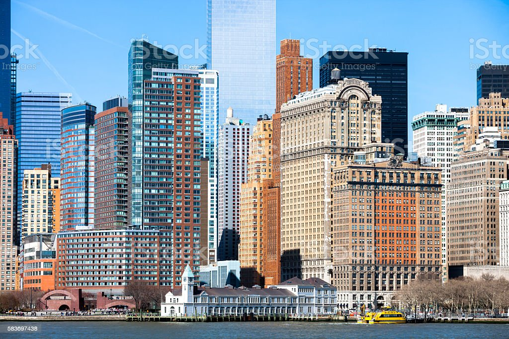 Office Buildings, Lower Manhattan, New York City stock photo