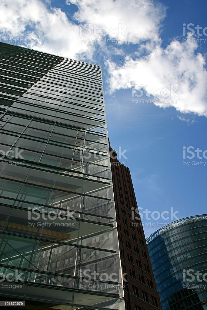 Office buildings with blue sky royalty-free stock photo