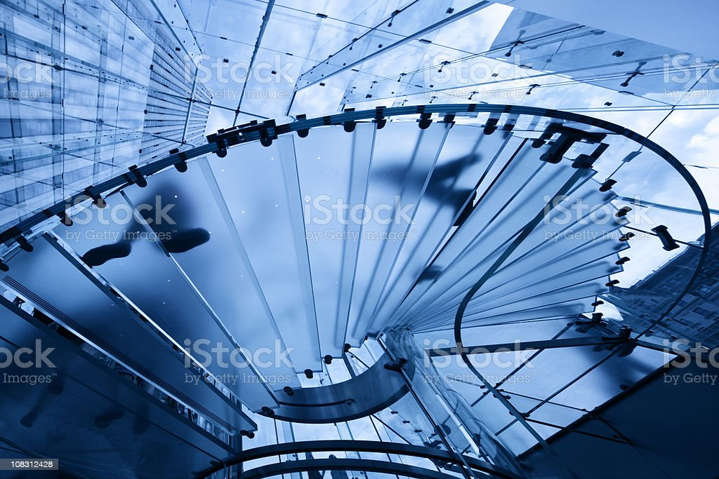 office buildings with glass staircase in manhattan royalty-free stock photo