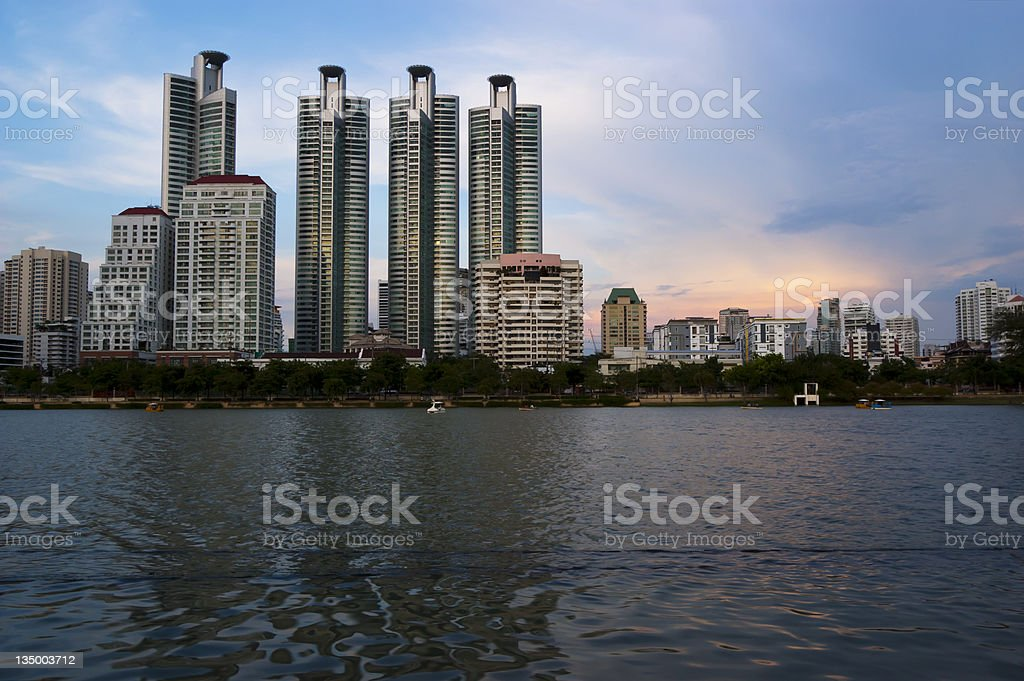 Office Buildings,Cityscape of Bangkok,Thailand. stock photo