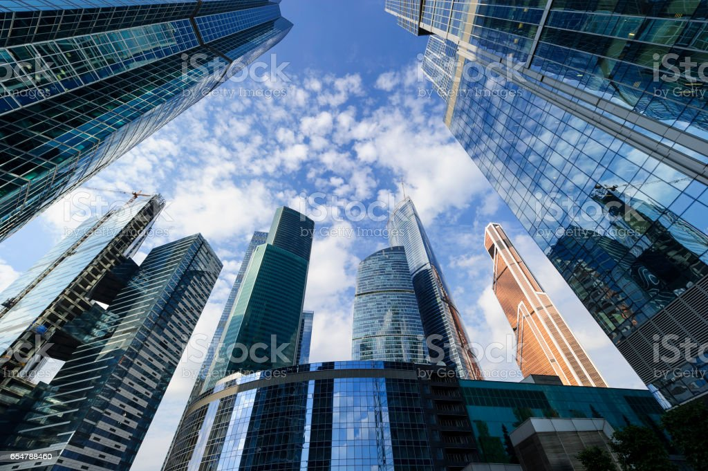 Office business skyscrapers stock photo