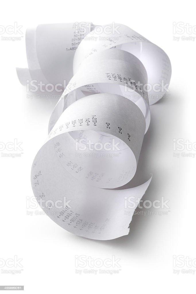 Office: Calculator Tape stock photo