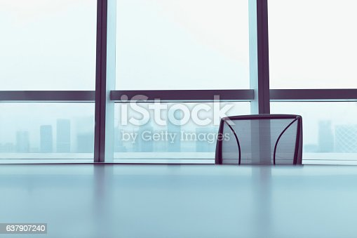 istock Office chair at table in meeting room 637907240